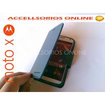 Funda Flip Cover Cartera Motorola Moto X Azul Marino Barata