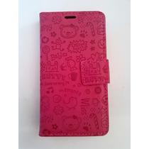 Lg L80.cartera Rosa Flip Cover Funda Celular Mujer L80