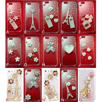 Funda Iphone 6 Cristal Pedrería Flores, Eiffel, Perlas, Tous