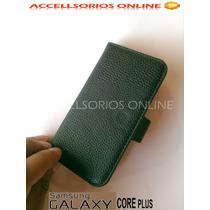 Funda Flip Shell Cover Samsung Galaxy Core Plus G350 Negra !