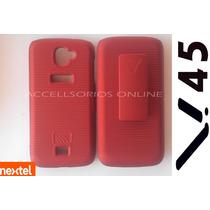Clip Combo Protector Holster Vsn V. 45 Rojo Metalico Nextel