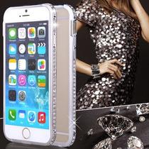 Bumper Cristales Tipo Swarovski Iphone 6 Y 6 Plus