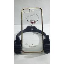 Protector Acrilico Transparente Corazon Iphone 5/5s/5c