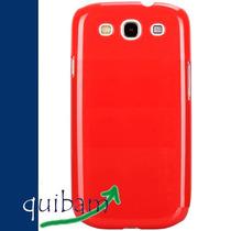 Samsung Galaxy S3 Siii I9300 Carcasa Funda Pure Color Rojo