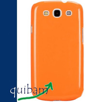 Samsung Galaxy S3 Siii I9300 Carcasa Fund Pure Color Naranja