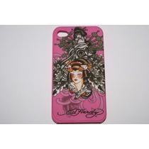 Funda Para Celular Ed Hardy Incing Rosa Geisha Iphone 4