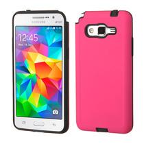 Funda Protector Samsung Galaxy Grand Prime Rosa / Negro