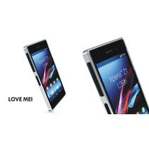 Bumper Xperia Z1 Z2 Z3 Love Mei + Micas De Cristal Templado