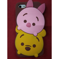 Protector De Silicon Flexible Winnie Pooh 3d Iphone 5 5s 5c