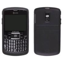 Agf Prima Negro Gel Piel Caso Para Samsung Gato Sgh-i637
