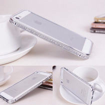 Iphone 6 Plus Bumper Cristal Diamante Metal