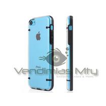 Funda Iphone 5c + Cable Usb 8pin + Mica Protector Bumper Op4