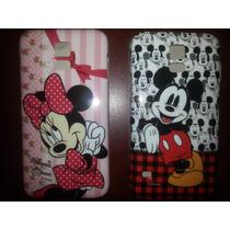 Funda Samsung S5 Original Mickey - Minnie + Mica Gratis
