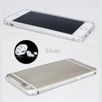 Bumper Aluminio Piedras Iphone 6, 4.7 Mica Frontal/trasera