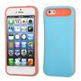 Protector Porta Tarjeta Iphone 5 Azul Con Naranja