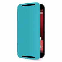Original Funda Flip Motorola Xt 1063 Turquesa Celular - Mobo