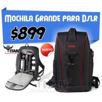 Mochila Bag Grande Para Cámara Dslr Lentes Y Accesorios