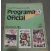 Programa Oficial Mexico 82 Futbol