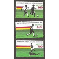 Estampillas Mexico Mundial De Futbol España 1982