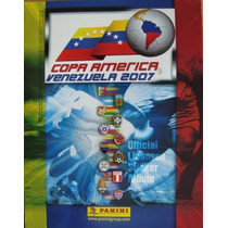 Álbum Copa América Venezuela 2007 Edit. Panini 100% Lleno