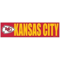 Calcomania Wincraft Nfl Bumper Jefes Kansas City Chiefs