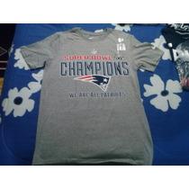 Playera Nfl Patriotas Nueva Inglaterra Campeones Super Bowl