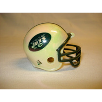 Casco Cromado Y Banderin Nfl New York Jets