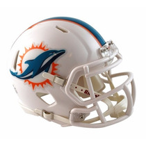 Casco Mini Speed Nfl Delfines Miami Dolphins Riddell