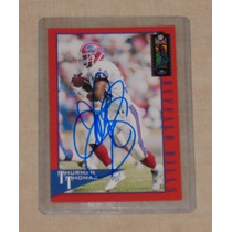 Tarjeta Autografiada Por Thurman Thomas Bills Jim Kelly