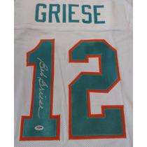 Jersey Autografiado Firmado Bob Griese Miami Dolphins Nfl