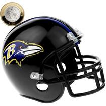 Casco Nfl Alcancia De Los Cuervos De Baltimore Ravens Nfl01