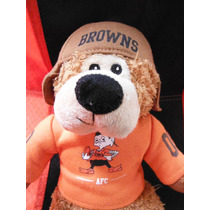 Peluche Oso Retro Vintage Nfl Football Cleveland Browns Toy