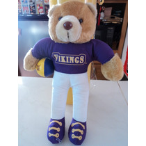 Peluche Oso Minnesota Vikings Nfl Football Retro 1995