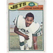 1977 Topps Mexican Jerome Barkum Jets De Nueva York