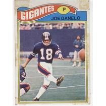 1977 Topps Mexican Joe Danelo Gigantes De Nueva York