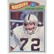 1977 Topps Mexican John Matuszak Raiders De Oakland