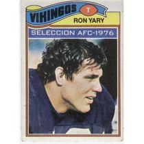 1977 Topps Mexican Ron Yary Ap Vikingos De Minnesota
