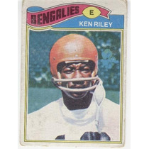 1977 Topps Mexican Ken Riley Bengalies De Cincinnati