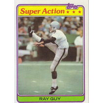 1981 Topps Super Action Ray Guy P Raiders