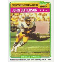 1981 Topps Record Breaker John Jefferson Wr Chargers