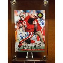 Steve Young Autografo 49ers San Francisco Nfl
