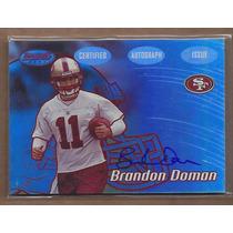 Brandon Doman Tarj C Autografo Bowmans Best 49ers Rnt