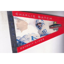 1998 Contenders Pennants Rookie Red Felt Charlie Batch Lions