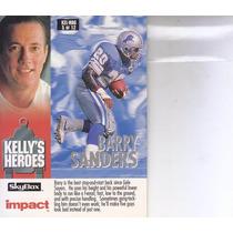 1993 Skybox Impact Kelly / Magic Barry Sanders Emmitt Smith