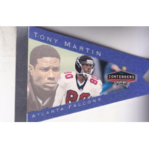 1998 Playoff Contenders Pennants Blue Felt Tony Martin Wr