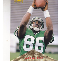 1996 Pinnacle Rookie Alex Van Dyke Wr Jets