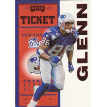 1998 Playoff Contenders Ticket Red Terry Glenn Wr Patriots