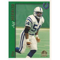 1997 Topps Minted In Canton Jeff Herrod Lb Colts