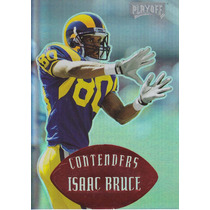 1997 Contenders Red Isaac Bruce Wr Rams 17/25