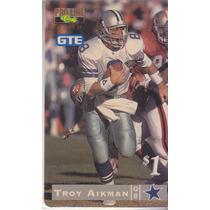 1995 Classic $1 Phone Card Troy Aikman Qb Cowboys